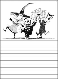 printables: Nightmare Before Christmas Printables