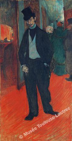 "Toulouse-Latrec ""Gabriel Tapie de Celeyran""  A painting of Latrec's frequent companion at the Moulin-Rouge, this picture has an exquisite use of colour."
