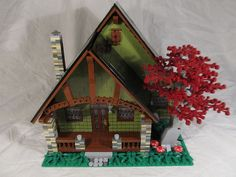 Lego Cottage : Olive paint is in fashion