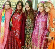 Tourists in traditional Kurdish clothes #Iran