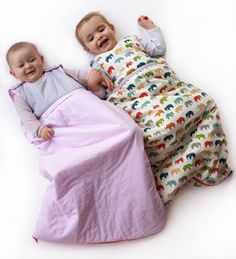 9 months and 20 months old cousins in their moon cocoons. www.niniandpumpkin.com