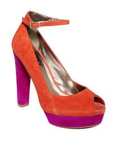 DKNY Collection Shoes #orange #platform #macys BUY NOW!