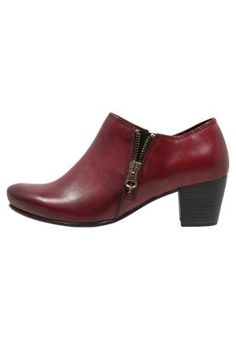 Ankelboots - bordeaux Bordeaux, Avon, Mary Janes, Flats, Shoes, Fashion, Women's Booties, Grey Hair, Loafers & Slip Ons