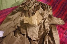 Late 18th century brown gown