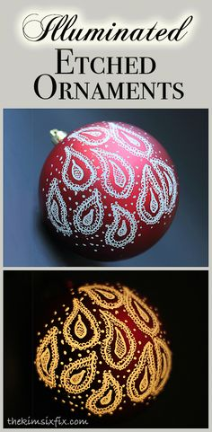 Engraved and Illuminated Ornaments (Dremel Video Tutorial) - The Kim Six Fix