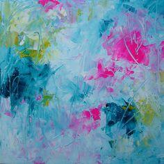 ELENA  abstract painting original contemporary by ElenasArtStudio, $49.00