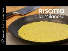 Risotto alla Milanese - Ριζότο Μιλανέζε | Master Class By Chef Panos Ioannidis - YouTube Rice Dishes, Master Class, Cornbread, Risotto, Pasta, Food And Drink, Ethnic Recipes, Youtube, Drinks
