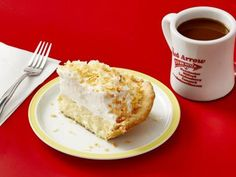 The Red Arrow Diner's Coconut Cream Pie Recipe from Food Network Toasted Coconut, Coconut Cream, Food Network Recipes, Food Processor Recipes, Cream Pie Recipes, Vanilla Pudding Mix, Red Arrow, Dessert Recipes, Cafe Recipes