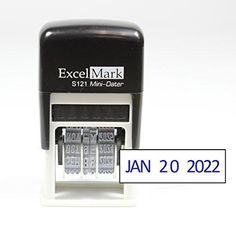 ExcelMark Self-Inking Date Stamp - S121 (Blue Ink)