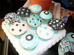 Blue/Brown Cupcakes