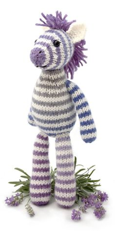 zebra knitting pattern