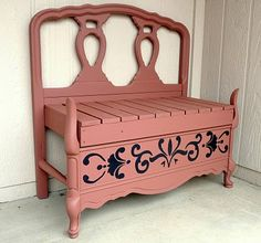 diy twin headboard bench with storage, outdoor furniture, repurposing upcycling, storage ideas, woodworking projects Furniture Projects, Furniture Makeover, Wood Projects, Diy Furniture, Furniture Design, Automotive Furniture, Automotive Decor, Furniture Removal, Handmade Furniture