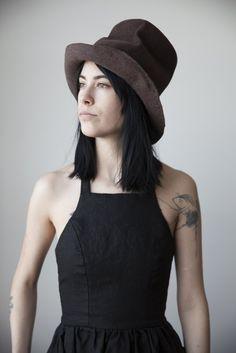 Light Brown Felt Hat no.144 c22235ea347e