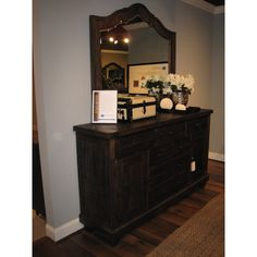 Brenley 7 Drawer Combo Dresser with Mirror - http://delanico.com/dressers/brenley-7-drawer-combo-dresser-with-mirror-526239197/