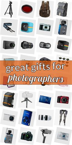 In search of a present for a photographer? Get inspired! Read our huge list of gifts for photograpy lovers. We have cool gift ideas for photographers which are going to make them happy. Getting gifts for photography lovers does not need to be difficult. And do not necessarily have to be costly. #greatgiftsforphotographers