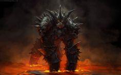 Demon Gorilla – fantasy concept by Maria Trepalina Fantasy Demon, Fantasy Beasts, Demon Art, Fantasy Monster, Monster Art, Dark Fantasy Art, Fantasy Artwork, Dark Art, Fantasy Character Design