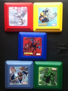 marvel super heroes wood wall plaques kid nursery bed room decor art hangings 2000