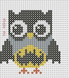 Batman owl perler pattern by Pia Petrea