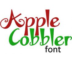 Apple Cobbler font Machine Embroidery Monogram Font set is the Perfect Design to Personalize all your Projects! Includes all Alphabet Letters and all of following sizes: 1″ 2″ &  3″