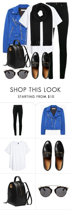 """Untitled #3197"" by elenaday on Polyvore featuring Yves Saint Laurent, MANGO, Gucci, Christian Dior and Acne Studios"