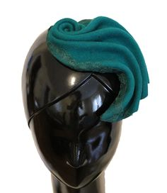Green felt fascinator by CHUCHU NY