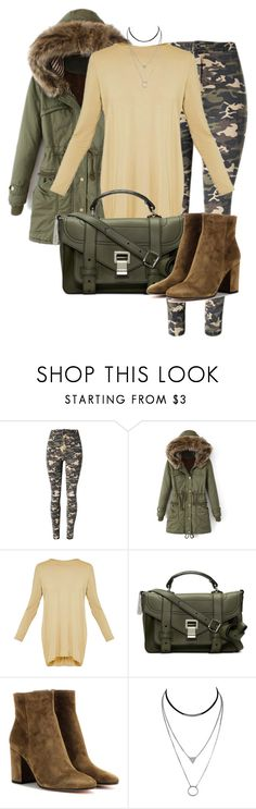 """""""Camouflage"""" by luisa100 on Polyvore featuring Mode, WithChic, BasicGrey, Proenza Schouler und Gianvito Rossi"""