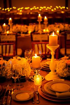 elegant wedding table details