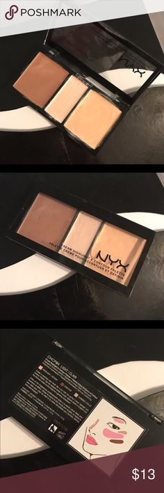 NYX Cream Highlight and Contour Palette NYX Cream Highlight and Contour Palette. I have used this twice. Not for me. Shoot me an offer. It was $14.99 plus tax in ulta. NYX Makeup Concealer