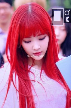 Red Hair Kpop, Girls With Red Hair, Pantone, Girl Group, My Girl, Girls Girls Girls, Park, Girls
