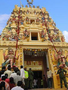 A hindu temple in Kuala Lumpur, Malaysia