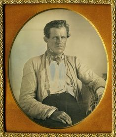 Exceptional sixth plate daguerreotype of a rough and tumble steely eyed gent wearing soiled work wear and suspenders.The character and composition of this image is extraordinary from his handsomely chiseled face to the soiled work coat and suspenders to the interestingly rugged rope tablecloth, not to mention the plate itself is beautifulwith superb depth and tone. | eBay!
