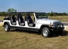 jeep limo ... would love to have one how much fun could one have with a jeep load of friends..
