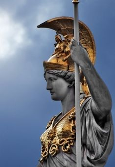 Pallas Athene  Athena Fountain, Austrian Parliament, Vienna, Austria.  (Photo by Alexander Bartek)