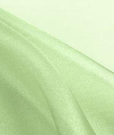 Sage Green Crystal Organza Fabric