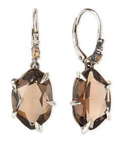 Y269M Alexis Bittar Fine Fancy Smoky Quartz & Diamond Drop Earrings