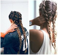 The Best Hair Braid Styles - FashionActivation Pretty Hairstyles, Braided Hairstyles, Braid Styles, Short Hair Styles, Cabello Hair, Boxer Braids, Wie Macht Man, Beautiful Braids, Hair Dos
