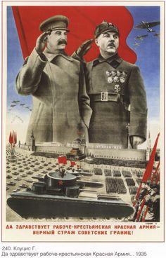 Wee Blue Coo Propaganda Political Soviet Union Stalin Military Red Army Parade Unframed Wall Art Print Poster Home Decor Premium Ww2 Posters, Political Posters, Retro Poster, Vintage Posters, Vintage Ads, Les Aliens, Ww2 Propaganda, Joseph Stalin, Russian Constructivism