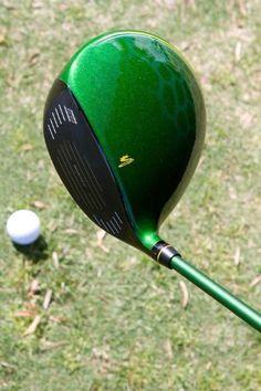 "April 7, 2014: ""This thing is pretty sweet. Cobra Golf LE Green BiO CELL Driver. Only 2014 made,"" Cobra Golf President Bob Philion observed. Golf Club Sets, Golf Clubs, Mini Golf Near Me, Golf Handicap, Golf Bags For Sale, Golf Stance, Cobra Golf, Golf Club Grips, Golf Simulators"