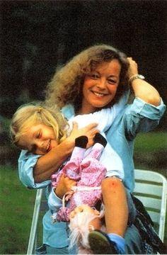 Romy Schneider et sa fille Sarah Biasini