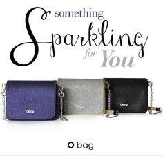 Appassionate delle borse O Bag ecco in arrivo un'altra novità: la borsetta a tracolla O Pocket con la pattina glitterata! Se avete già una O pocket potete
