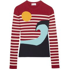 REDValentino Intarsia ribbed-knit sweater