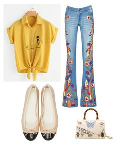"""""""Walk on by"""" by avalee-kelley on Polyvore featuring Alice + Olivia and Gucci"""
