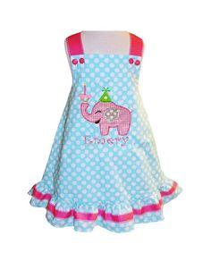 1st thru 6th PERSONALIZED BIRTHDAY ELEPHANT by ChildrensCottage