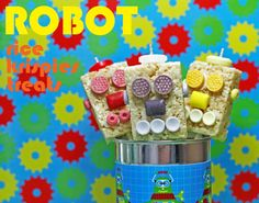 Robot Rice Krispies Treats - build your own robot party activity!