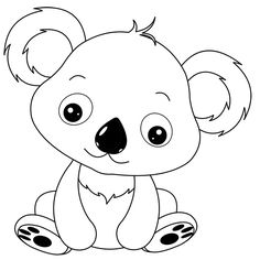 Bébé panda Art Drawings For Kids, Pencil Art Drawings, Drawing For Kids, Painting For Kids, Easy Drawings, Cute Coloring Pages, Coloring Books, Cartoon Monkey, Sugar Skull Art