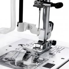 Your 8077 might mark your end to eyeballing stitch widths and lengths. Both adjust by pressing the  button as needed. Monitor both via the LED display. The clear bobbin cover lets you track your remaining thread closely, and the jam-proof seven-feed-teeth system guarantees that accidentally sewing off the fabric's edge won't be a problem. Set your tension with the push of a button, and go to town. The Janome will stay the course until you adjust it yourself again.
