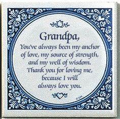 Dutch Magnet Tiles: Grandpa Inspirational Quote