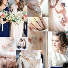 Navy & blush, such a popular combo for brides this year!