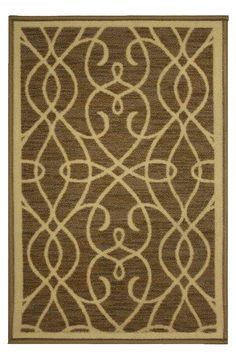 Kashi Home Normandy Collection Contemporary Geometric Inspired Decorative Accent Egyptian Area Rug, Beige, 5'x7' >>> Click image for more details. (This is an affiliate link and I receive a commission for the sales)