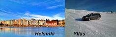 Finland is a long country. In the south, the summer is upon us. The north is a full winter.
